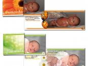 Babykarte Franziska und Johanna