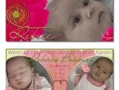 Babykarte Rebecca